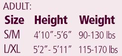 Adult Tights Size Chart